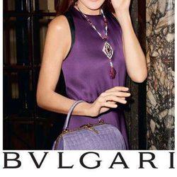 Carla Bruni embajadora de la campaña 'Bulgari Diva' de Bulgari