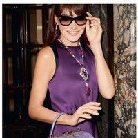 Carla Bruni posando para la campaña 'Bulgari Diva' de Bulgari