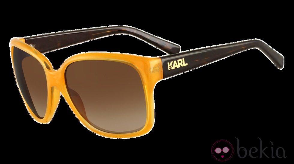 Gafas con montura color mostaza de Karl Lagarfeld Eyewear - Jon ...