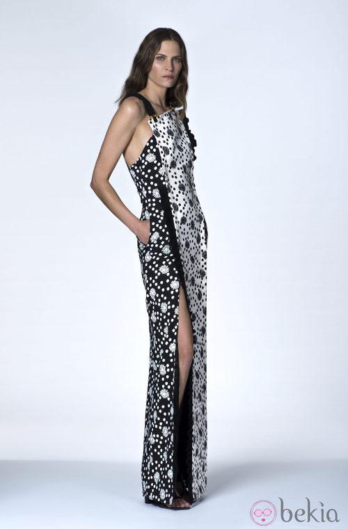 Vestido largo bicolor de la Colección Resort 2014 de Emanuel Ungaro