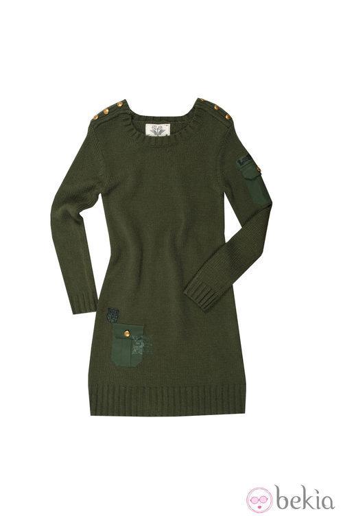 Vestido verde de punto de la colección otoño/invierno 2013 de Lois
