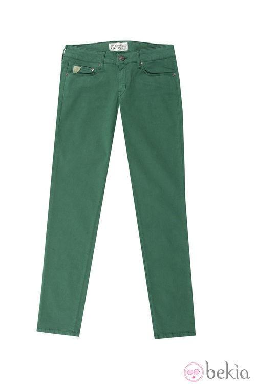 Skinny verde de la colección otoño/invierno 2013 de Lois