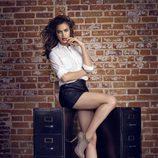 Irina Shayk con botas de tacón de la coleccion otoño/invierno 2013 de Xti