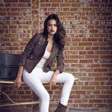 Irina Shayk con botas de la coleccion otoño/invierno 2013 de Xti