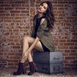 Irina Shayk con botas con print de la coleccion otoño/invierno 2013 de Xti
