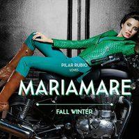 Pilar Rubio posando con la colección otoño/invierno 2013/2014 de Maria Mare