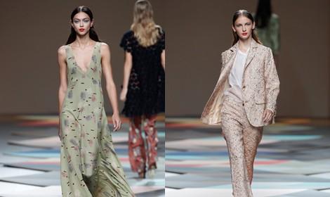 Vestido verde vaporoso de la colección primavera/verano 2014 de Ailanto en Madrid Fashion Week