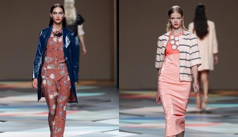 Vestido plastificado de la colección primavera/verano 2014 de Ailanto en Madrid Fashion Week