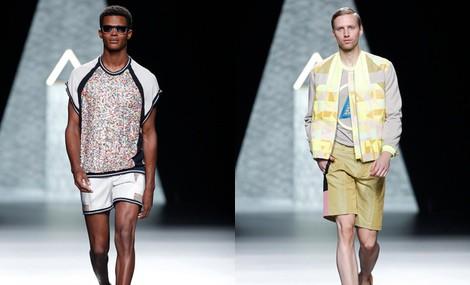 Bermudas y chaqueta masculinas de la colección primavera/verano 2014 de Ana Locking en Madrid Fashion Week