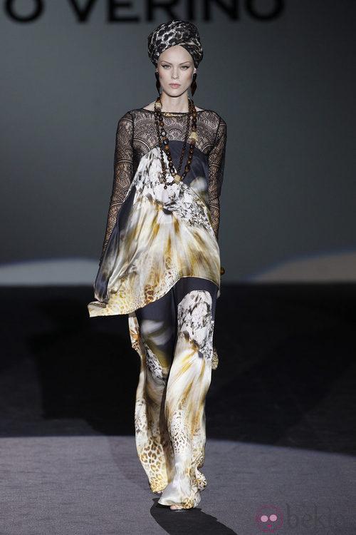 Falda larga de la colección primavera/verano 2014 de Roberto Verino en Madrid Fashion Week