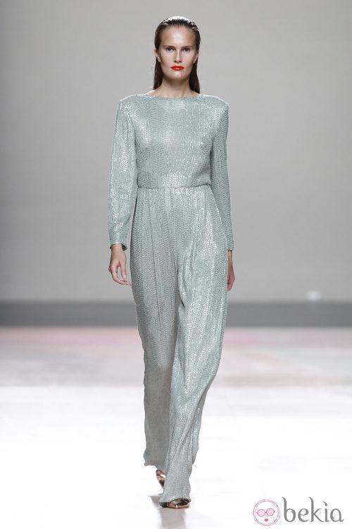 Mono de vestir de la colección primavera/verano 2014 de Duyos en Madrid Fashion Week