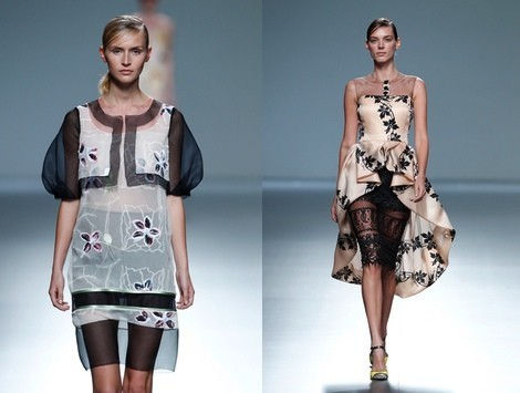 Vestido doble falda de la colección primavera/verano 2014 de Victorio & Lucchino en Madrid Fashion Week