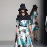 Vestido línea A de la colección primavera/verano 2014 de Juanjo Oliva en Madrid Fashion Week