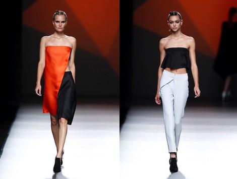 Pantalón blanco de la colección primavera/verano 2014 de AA de Amaya Arzuaga en Madrid Fashion Week