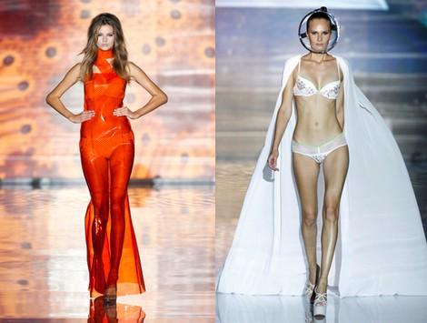 Conjunto lencería de la colección primavera/verano 2014 de Andrés Sardá en Madrid Fashion Week