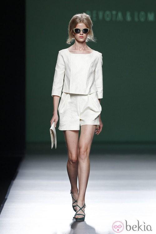 Short de la colección primavera/verano 2014 de Devota&Lomba en Madrid Fashion Week