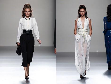 Vestido en V de la colección primavera/verano 2014 de Miguel Palacio en Madrid Fashion