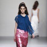 Falda troquelada de la colección primavera/verano 2014 de Miguel Palacio en Madrid Fashion