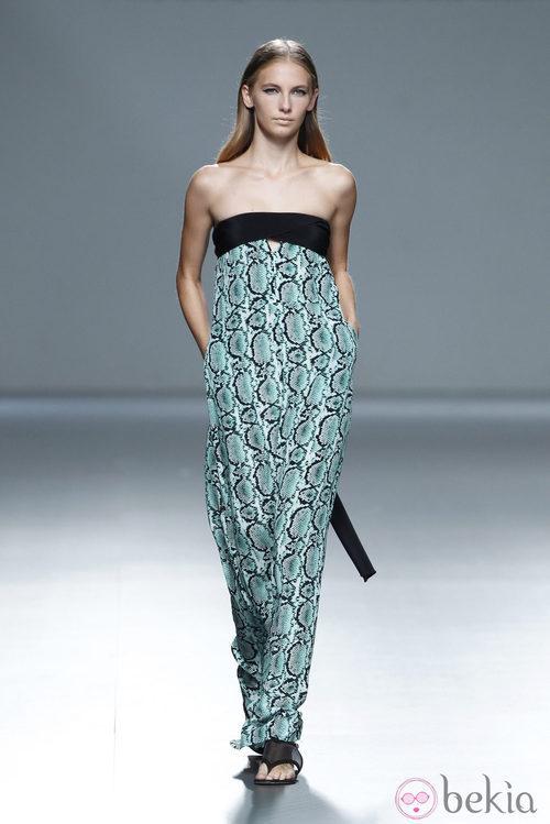 Vestido print animal de la colección primavera/verano 2014 de Ángel Schlesser en Madrid Fashion Week