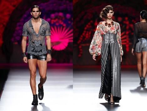 Falda con corsé de la colección primavera/verano 2014 de Francis Montesinos en Madrid Fashion Week