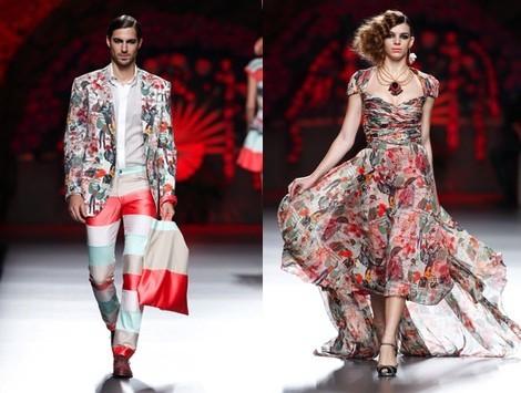 Vestido estampado de la colección primavera/verano 2014 de Francis Montesinos en Madrid Fashion Week