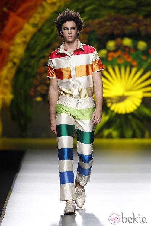 Total look de la colección primavera/verano 2014 de Francis Montesinos en Madrid Fashion Week