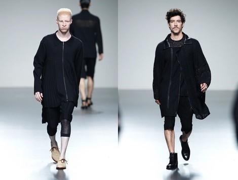 Total look de la colección primavera/verano 2014 de Etxeberría en Madrid Fashion Week