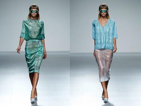 Falda transparente de la colección primavera/verano 2014 de Martin Lamothe en Madrid Fashion Week
