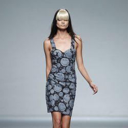Vestido de tirantes de la colección primavera/verano 2014 de Carlos Diez en Madrid Fashion Week