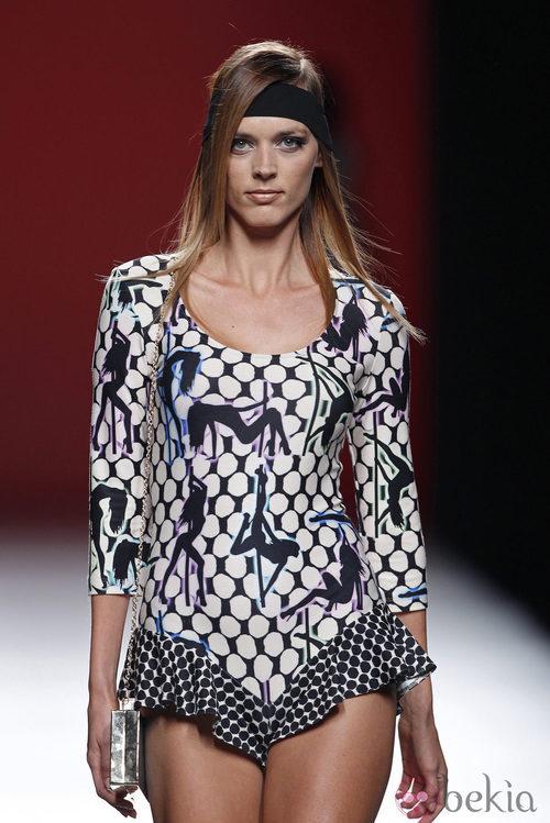 Body con volantes de la colección primavera/verano 2014 de María Escoté en Madrid Fashion Week