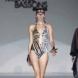Bañador print de la colección primavera/verano 2014 de Montse Bassons en Madrid Fashion Week