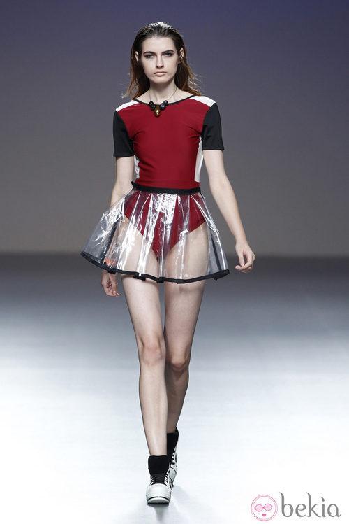 Body rojo de la colección primavera/verano 2014 de POL en la pasarela EGO Madrid Fashion Week