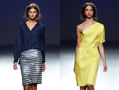 Vestido amarillo de la colección primavera/verano 2014 de Diego Estrada en el EGO Madrid Fashion Week