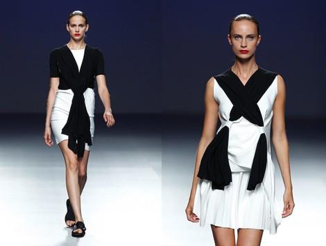 Vestido bicolor de la colección primavera/verano 2014 de Pepa Salazar en el EGO Madrid Fashion Week
