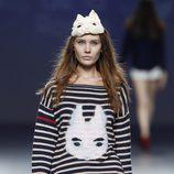 Jersey a rayas de la colección primavera/verano 2014 de Andrea de la Roche en el EGO Madrid Fashion Week