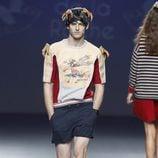 Camiseta y shorts de la colección primavera/verano 2014 de Andrea de la Roche en el EGO Madrid Fashion Week