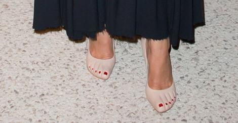 La Princesa Carolina de Mónaco luciendo unos curiosos zapatos de Céline