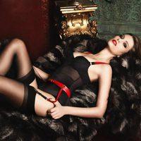 Body negro con liguero de la colección otoño/invierno 2013 de Bordelle
