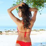 Irina Shayk con un biquini color naranja de la colección verano 2014 de Beach Bunny