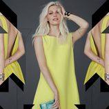 Vestido amarillo de la colección otoño/invierno 2013/2014 de Rebecca Minkoff
