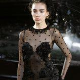 Body de encaje negro de la colección primavera/verano 2014 de Louis Vuitton