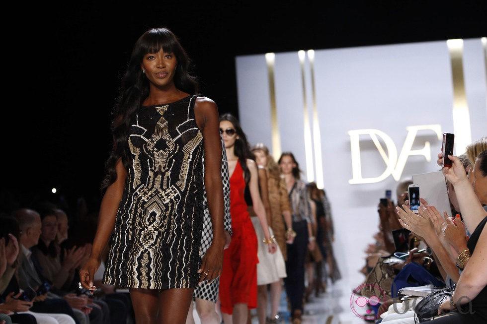 Naomi Campbell en un desfile de Diane von Furstenberg en la Semana de la Moda de Nueva York