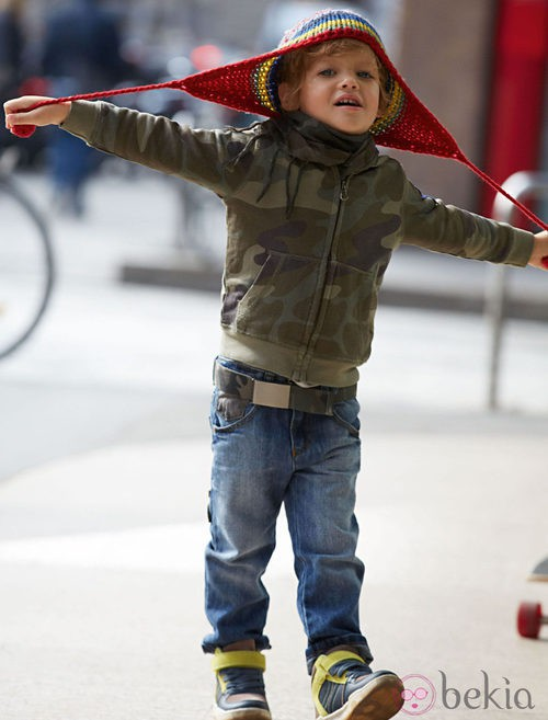 Sudadera de estampado militar de la colección otoño/invierno 2013 de Benetton Kids