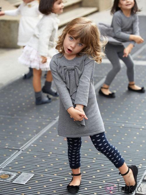Vestidito gris de la colección otoño/invierno 2013 de Benetton Kids