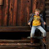 Abrigo azul de niño de la colección otoño/invierno 2013 de Benetton Kids