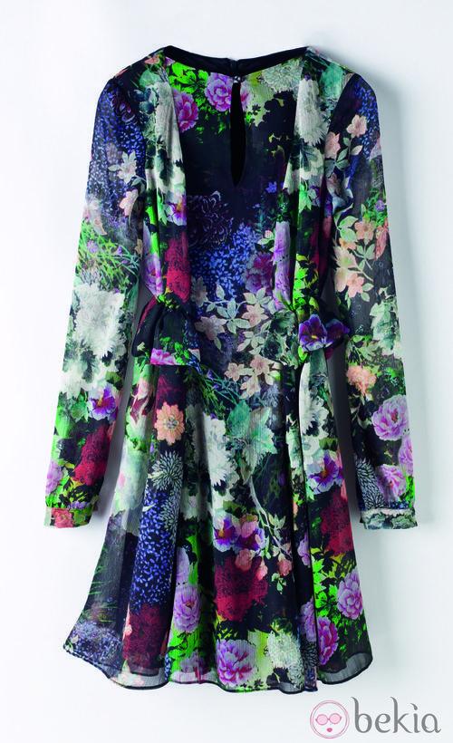 Vestido estampado de la colección de Juanjo Oliva para Elogy otoño/invierno 2013/2014