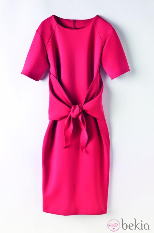 Vestido coral de la colección de Juanjo Oliva para Elogy otoño/invierno 2013/2014