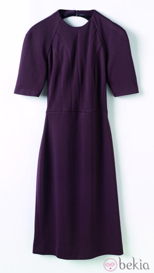 Vestido burdeos de la colección de Juanjo Oliva para Elogy otoño/invierno 2013/2014