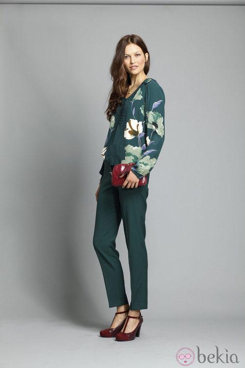Pantalón verde de la colección otoño/invierno 2013/2014 de Indi&Cold