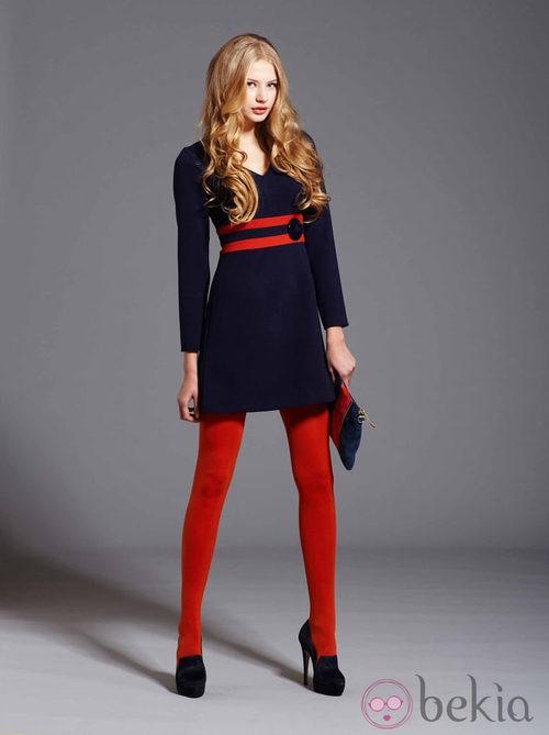 Vestido azul de la colección otoño/invierno 2013/2014 de Pennylane